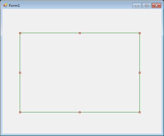 C#使用GDI绘制可以移动、改变大小的矩形框