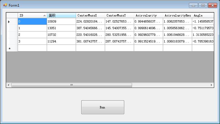 C#+VisionPro取CogBlobTool工具运行结果
