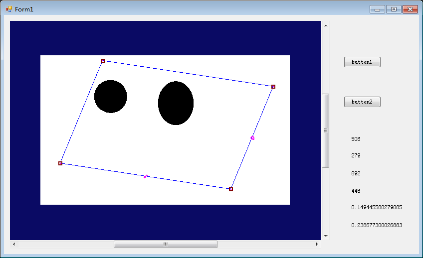 C#在CogRecordDisplay上绘制ROI区域